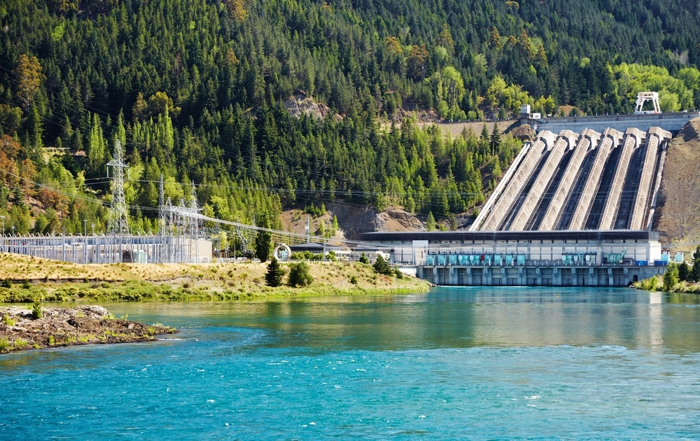 Hydroelectric dam, New Zealand