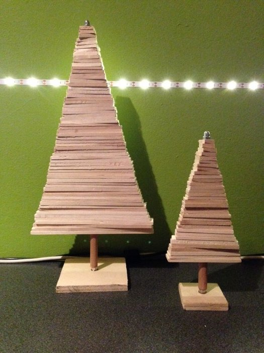 Small Wooden Christmas Tree