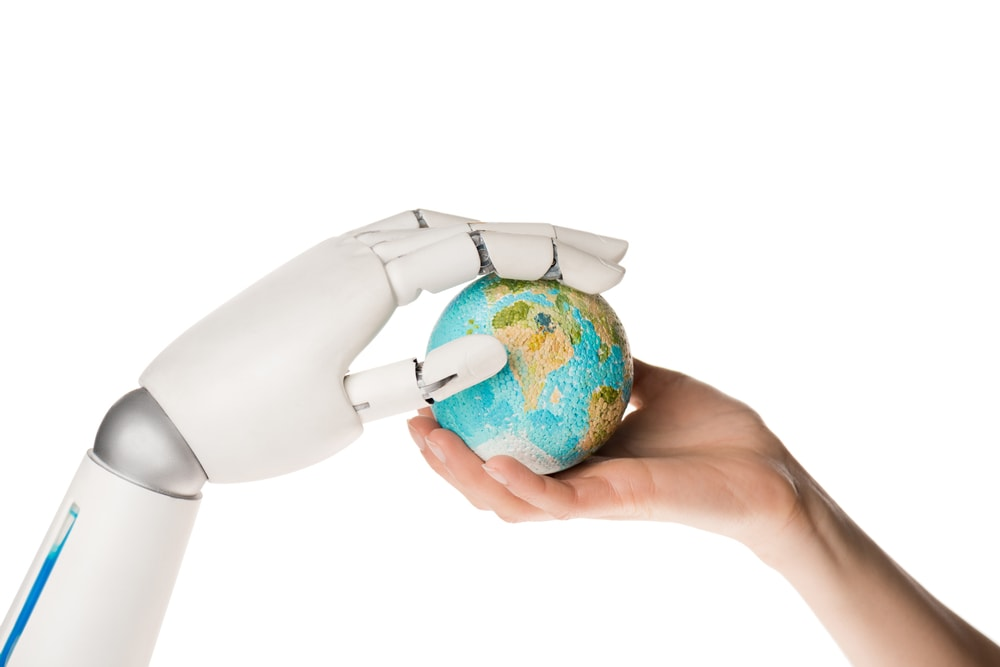 Robot arm and earth