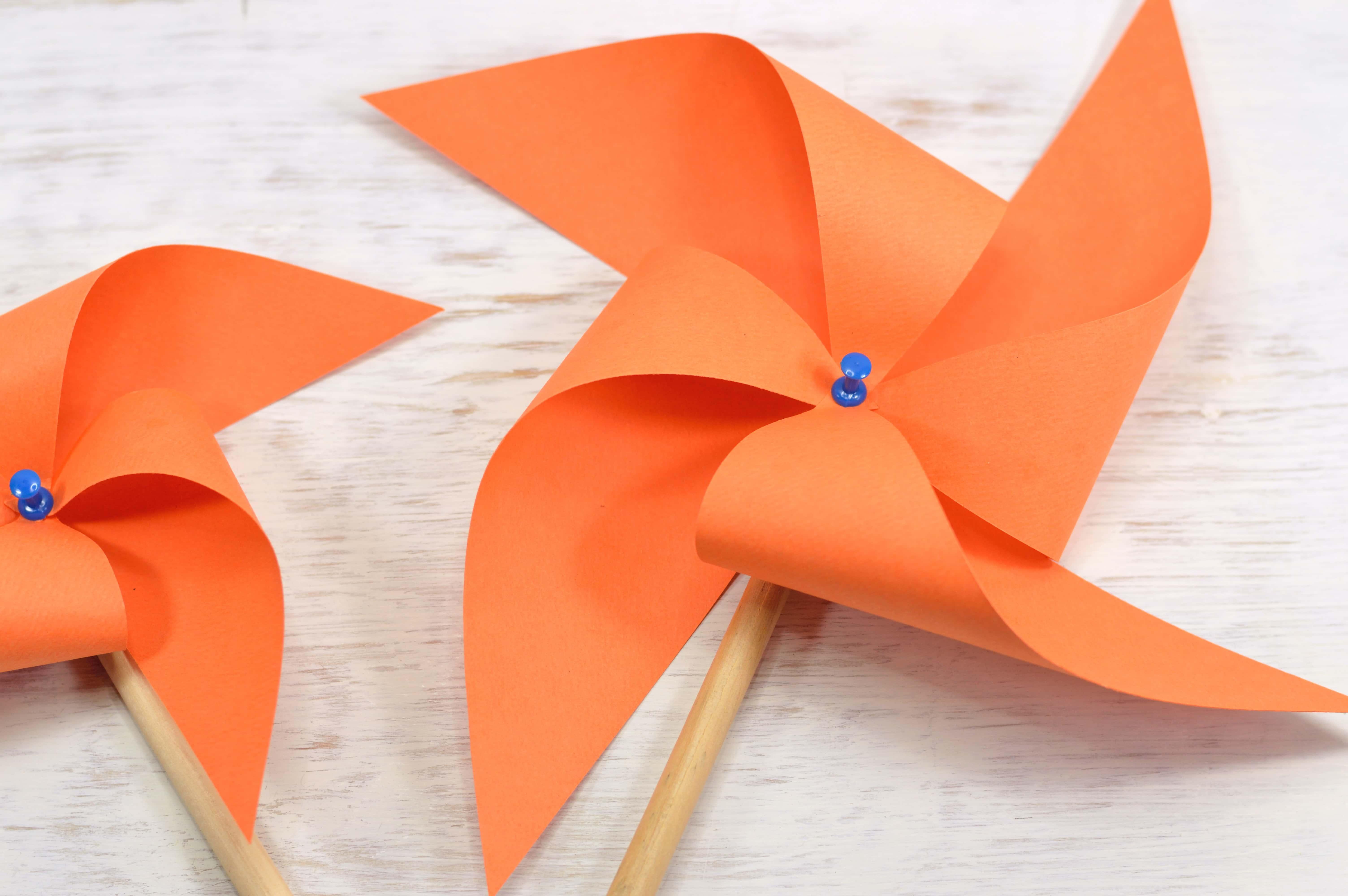 Orange Pinwheel