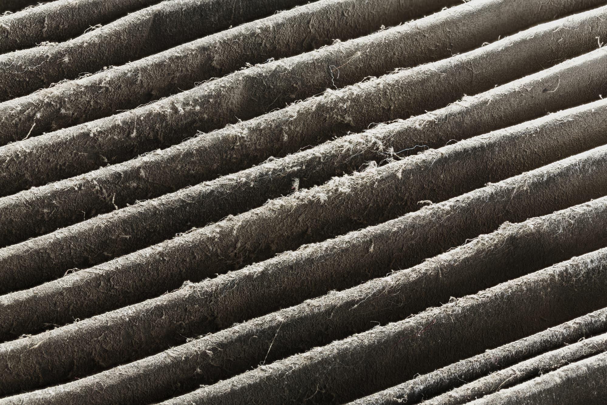 Close up dirty air filter