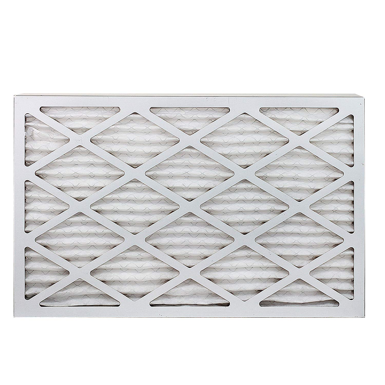 FilterBuy AFB Silver MERV 8 16x25x1 Pleated AC Furnace Air Filter in white background